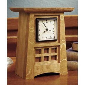 Mission Style Arts and Crafts Shelf Clock - Downloadable Plan