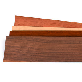 """Mixed Variety 1/16"""" Thick 4-1/2"""" to 7-1/2"""" Width 3 sq ft Pack Wood Veneer"""