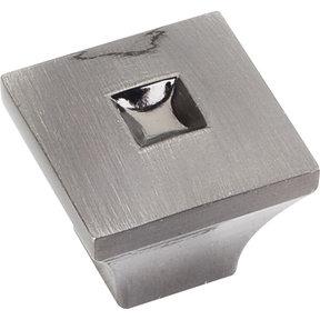 "Modena Small Knob 1"" O.L., Satin Black Nickel"