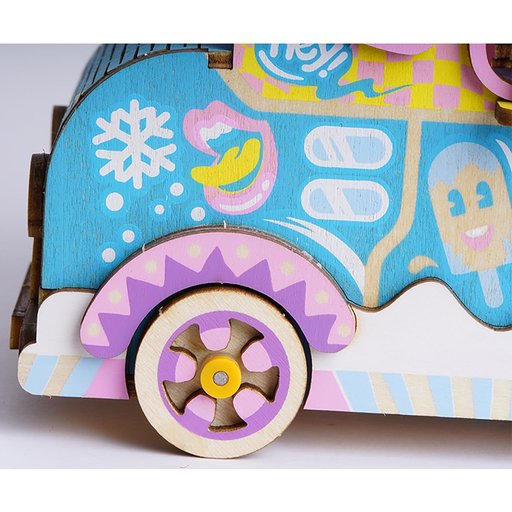 View a Larger Image of Moving Flavor Ice Cream Truck Music Box