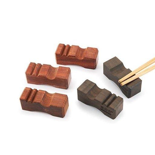 View a Larger Image of Mujingfang Natural Hardwood Chopstick Rests  5-piece
