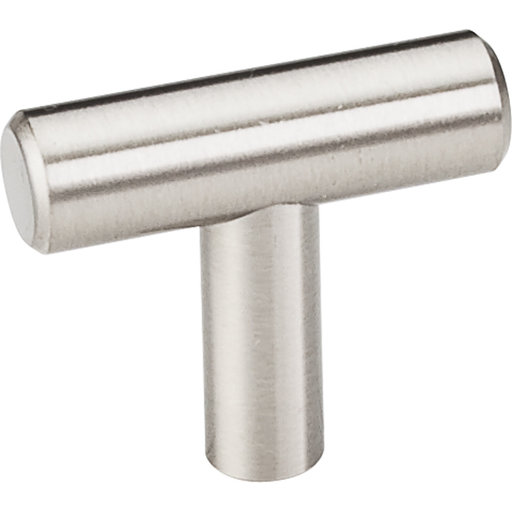 """View a Larger Image of Naples """"T"""" Knob, 1-1/2"""" O.L.,  Stainless Steel"""