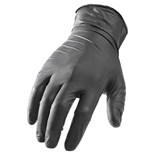 View a Larger Image of NI-FLEX Disposable 5mil Gloves Black (XL) 100-piece