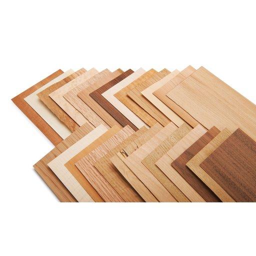 "View a Larger Image of North American Species 4"" x 9"" 25 pc Wood Identification Kit & Wood Veneer Sample Pack"