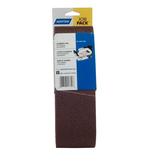 "View a Larger Image of 3"" x 21"" Aluminum Oxide Sanding Belt - 220 Grit - 5 Pack"