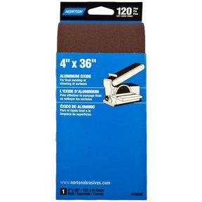 "4"" x 36"" Aluminum Oxide Sanding Belt 120 Grit"
