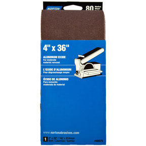 "4"" x 36"" Aluminum Oxide Sanding Belt 80 Grit"