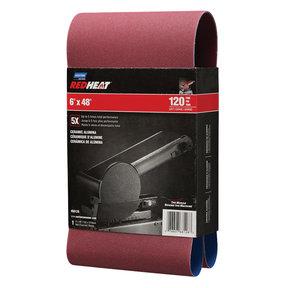 "6"" x 48"" Redheat Ceramic Sanding Belt 120 Grit"