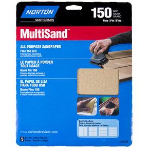 "9"" x 11"" All Purpose Sandpaper 150 Grit - 5 Pack"