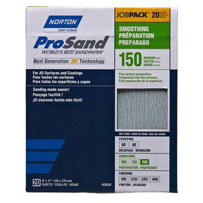 "9"" x 11"" ProSand Sanding Sheets - 150 Grit - 20 Pack"