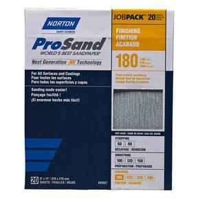 "9"" x 11"" ProSand Sanding Sheets - 180 Grit - 20 Pack"