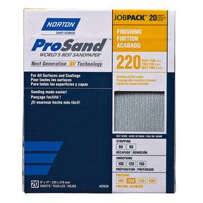"9"" x 11"" ProSand Sanding Sheets 220 Grit 20 pk"