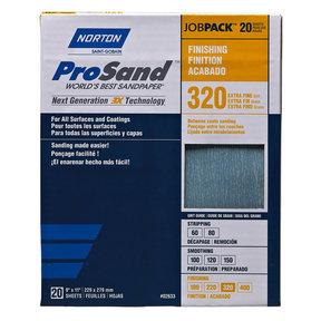 "9"" x 11"" ProSand Sanding Sheets 320 Grit 20 pk"