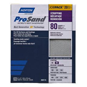 "9"" x 11"" ProSand Sanding Sheets - 80 Grit - 20 Pack"