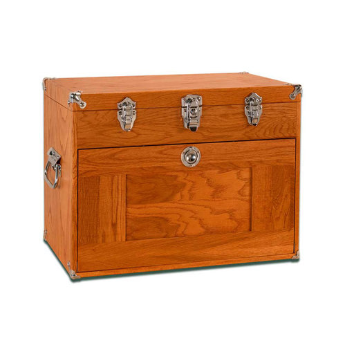 View a Larger Image of T-20 9-Drawer Top Chest, Red Oak