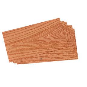 """Oak, Red Wood Veneer - 4-1/2"""" to 6-1/2"""" Width - 3 Square Foot Pack"""
