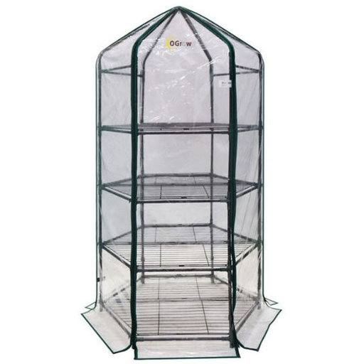 View a Larger Image of Ultra-Deluxe 4 Tier, Hexagonal Flower Planthouse