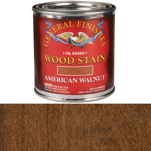View a Larger Image of American Walnut Stain Solvent Based 1/2 Pint