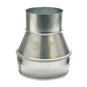 """Metal 6"""" to 4"""" Reducer Dust Collection Fitting"""