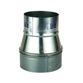 """Metal 5"""" to 4"""" Reducer Dust Collection Fitting"""