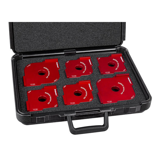 View a Larger Image of OneTIME Tool 6-Piece Radius Quick Jig Set in Woodpeckers Case