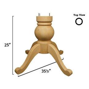 Knotty Pine Shallowford Table Pedestal Kit, Model 1158P