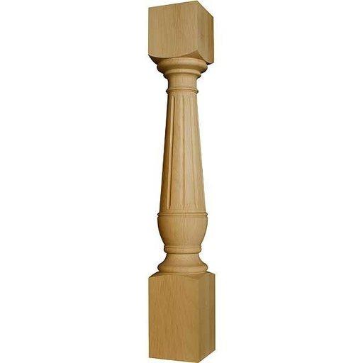View a Larger Image of Mahogany Edward Island Leg, Model 99131MH
