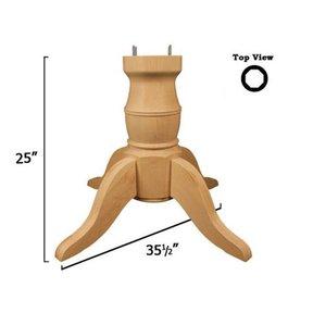 Soft Maple Coventry Table Pedestal Kit, Model 1161M