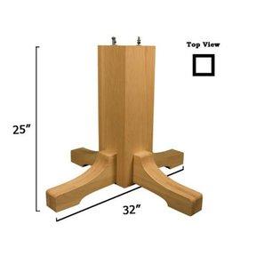 Soft Maple Mission Table Pedestal Base Kit, Model 1172M
