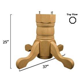 Soft Maple Traditional Table Pedestal Base Kit, Model 1178M