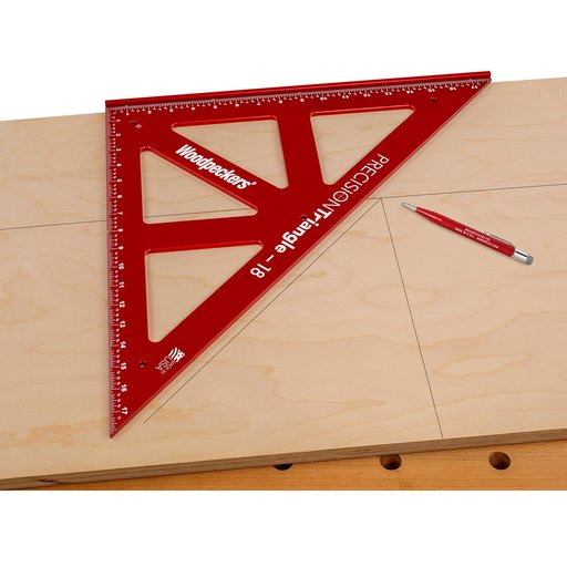 """View a Larger Image of OneTime Tool 18"""" PRECISION TRIANGLE - WITH CASE"""