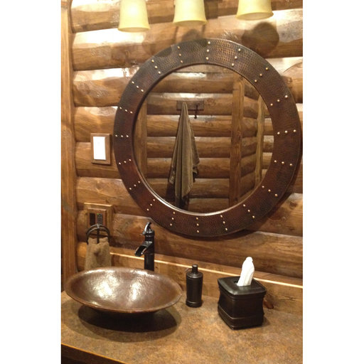 View a Larger Image of Oval Hand Forged Old World Copper Vessel Sink