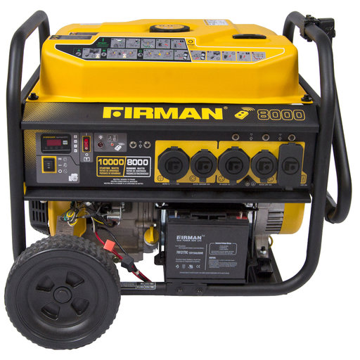 View a Larger Image of P08003 8,000 / 10,000 Watt Portable Gas Generator with Remote Start