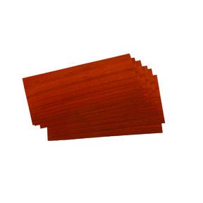 "Padauk 4-1/2"" to 6-1/2"" Width 3 sq ft Pack Wood Veneer"