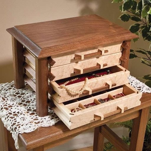 View a Larger Image of Pagoda-Style Jewelry Box - Downloadable Plan