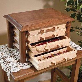 Pagoda-Style Jewelry Box - Downloadable Plan