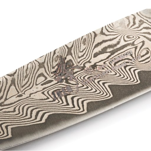 """View a Larger Image of Paring 101-Layer German Damascus Steel Knife Blank 3-5/8"""" L x 5/32"""" T (91mm x 2.0mm)"""