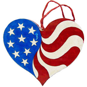 Patriotic Heart  Woodworking Pattern and Picture