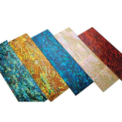 """View a Larger Image of Paua Abalone Cascade 9-1/4"""" x 2-3/4"""" x 1/32"""" Sheet Inlay Material"""