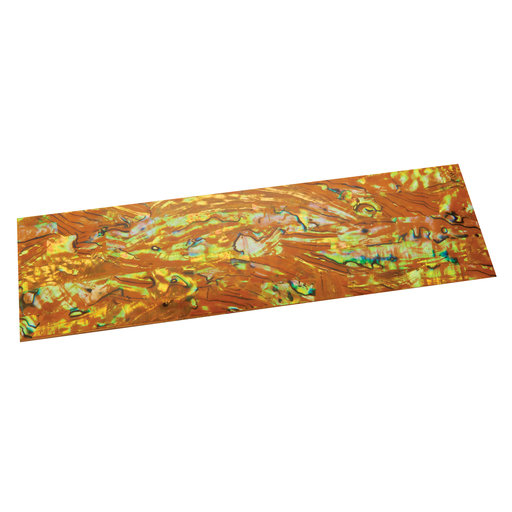"""View a Larger Image of Paua Abalone Lightning 9-1/4"""" x 2-3/4"""" x 1/32"""" Sheet Inlay Material"""