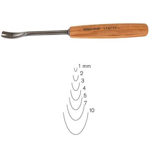 View a Larger Image of #11 Sweep Spoon Gouge 10 mm Full Size