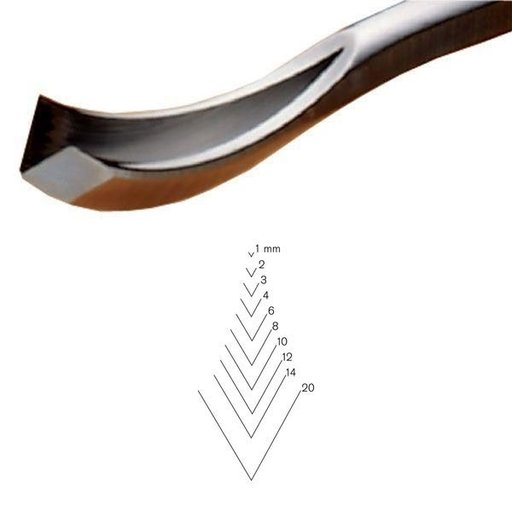 View a Larger Image of #12 Sweep Bent V-Parting Tool 6 mm Full Size