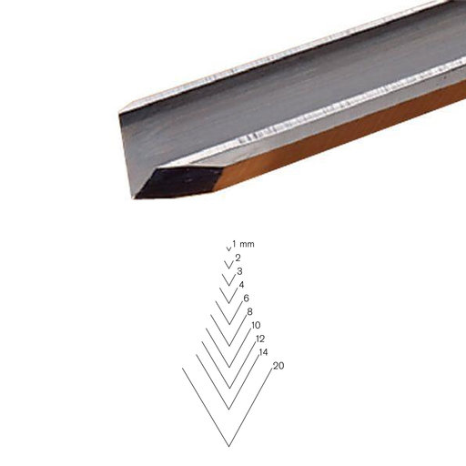 View a Larger Image of #12 Sweep V-Parting Tool 3 mm Full Size