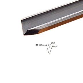 #16 Sweep V-Parting Tool 1 mm Full Size