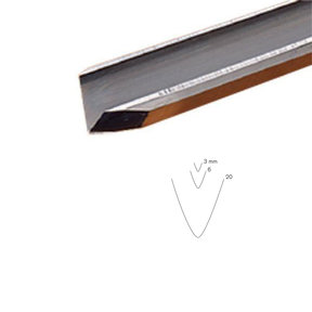 #17 Sweep Stahli V-Parting Tool 3 mm Full Size