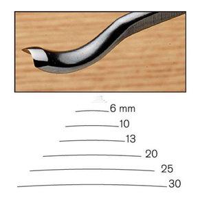 #20 Sweep Back Bent Gouge 6 mm Full Size