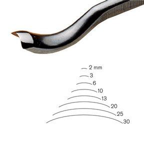 #25 Sweep Back Bent Gouge 10 mm Full Size