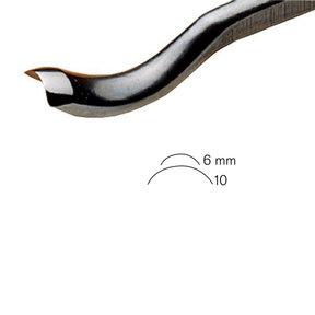 #28 Sweep Back Bent Gouge 6 mm Full Size
