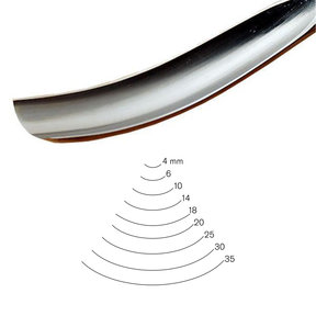 #7 Sweep Bent Gouge 14 mm Full Size