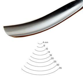 #7 Sweep Bent Gouge 4 mm Full Size